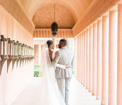Check Out The Gorgeous Wedding Dress Of Agbani Darego That Has Got People Talking.