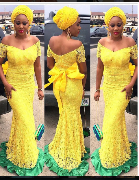 latest asoebi gown in Nigeria