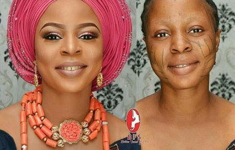 Amazing Make-up Transformation of a lady with Tribal Marks