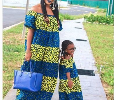 Beautiful Mother-and-Daughter Ankara Styles: Twinning.