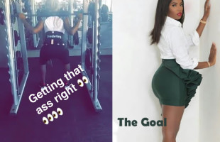 TIWA SAVAGE GYMING FOR THE PERFECT BOOTY (PICTURES)