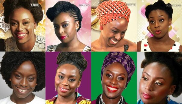 Which of these hairstyles/headtie look best on Chimamanda Adichie?