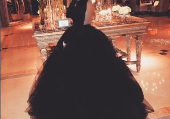 Tiwa Savage Is The Queen Of Glamour In Her Gert Johan Coetzee Princess Ball Gown.
