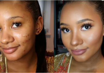 Temi Otedola's Before And After Make-up Photos