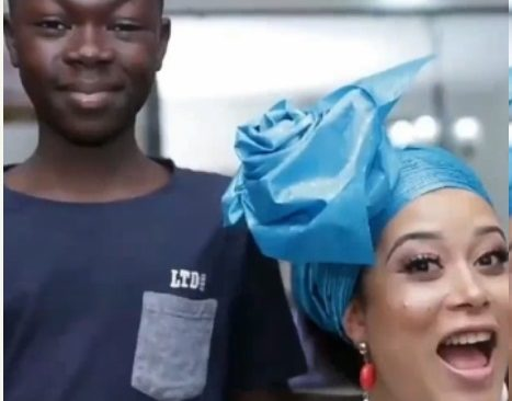 Video of 13-year Old Gele and make up expert from Nigeria interviewed by BBC
