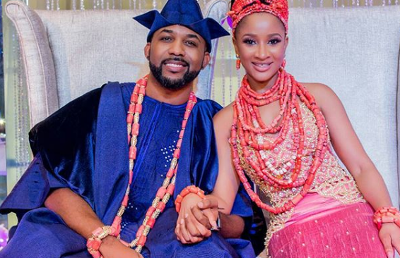 Pictures From BankyW And Adesua Etomi #BAAD Traditional Marriage.