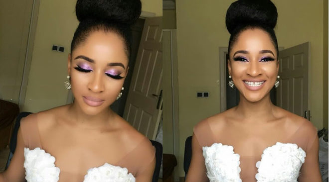 Adesua Etomi's glowing bridal shower makeup(Pictures)