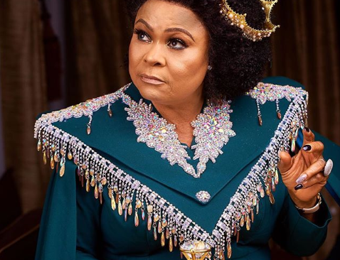 """Check Out Sola Sobowale's Look to """"King Of Boys"""" Movie Premiere."""