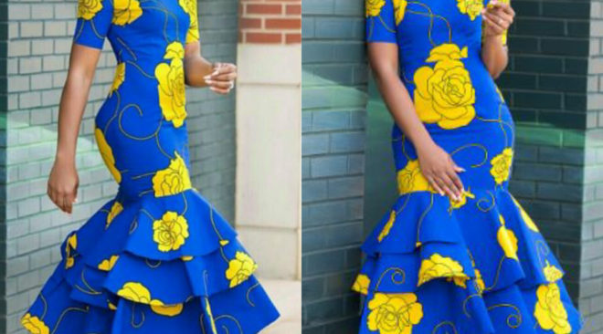 Ankara Fishtail Gown for the Weekend!