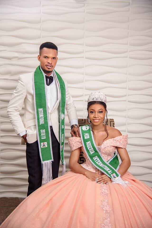 Mr and Miss Nigeria International 2018 pictured together