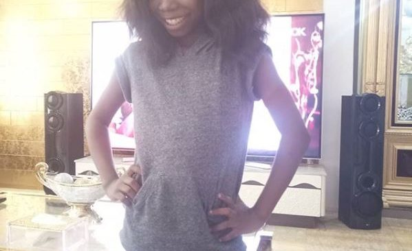 Emmanuella Rocks Brazilian Hair for the First Time(photo).