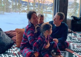 Mark Zuckerberg Rocks Matching Pajamas with his Beautiful Family.