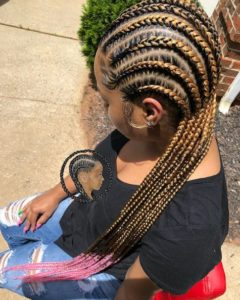 colored cornrows