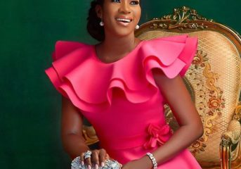 Stephanie Linus Looks Flawless in White Outfit and Background.