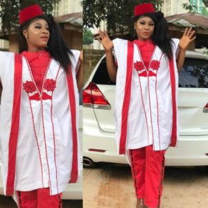 red agbada style