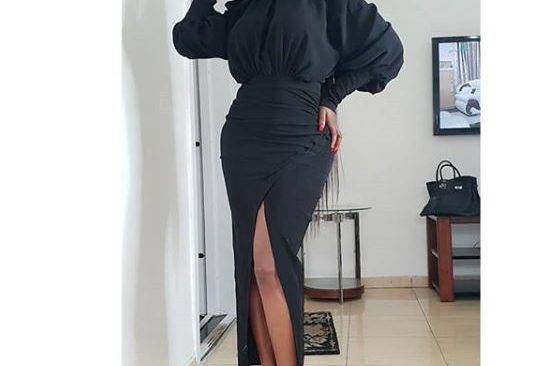 Ini Edo Serves Hot in Thigh-Slit Gown.