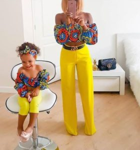 casual clothes for mother and daughter