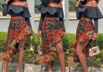 Unique Ankara Skirt Styles for an Ankara Lover.