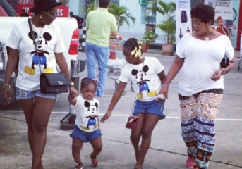 Anne Idibia and Daughters step out in matching outfits