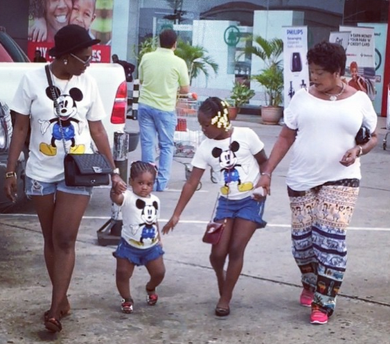 Anne Idibia and her daughters