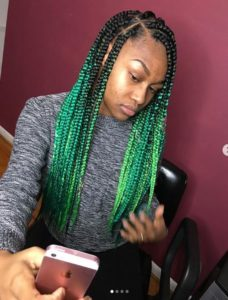 ombre twists