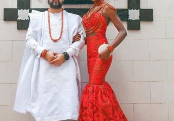 Nigerian Couples in their Traditional Wedding Attires.