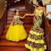 Hair Boss, Nwanneka, Celebrates her Daughter's Birthday in Matching Outfits.