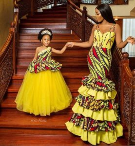 matching ankara outfit for mother and daughter