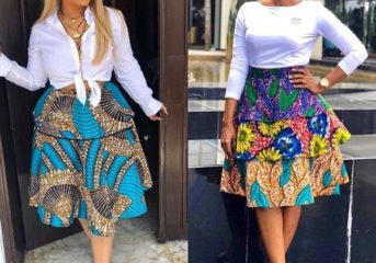 One Ankara Fabric, Two Chic Styles.