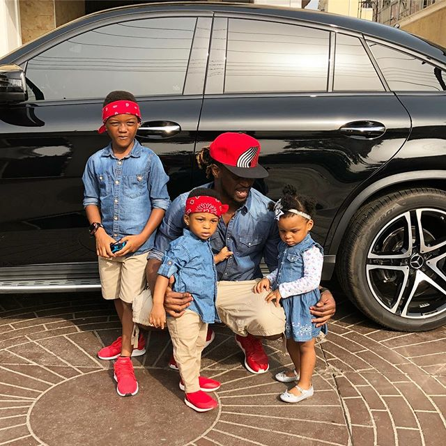 Rudeboy and kids in Matching outfit