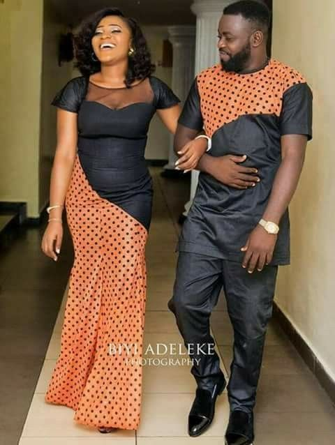 couples on matching ankara africa styles