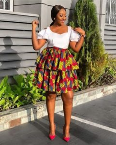 layered ankara skirt