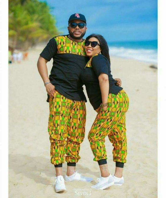 African couples on ankara