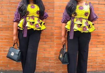 Unique Ankara Slay for this Friday.