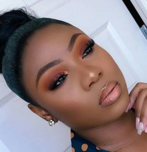 nude makeup for brown girls