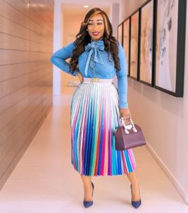 colorful work outfits for black women