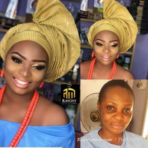 gele styles for brides