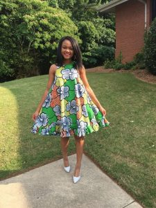 ankara flared gown styles