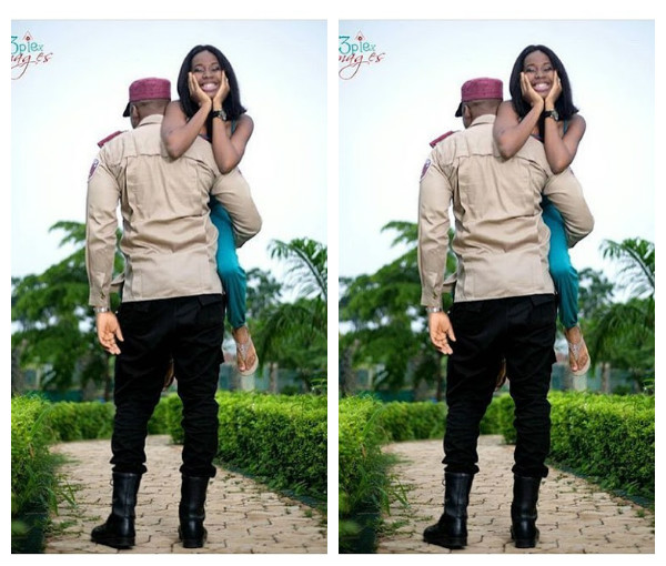FRSC officer and fiancee pre wedding shots