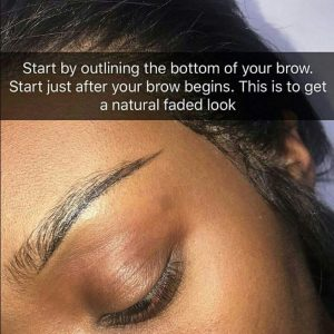 how to draw natural eyebrows