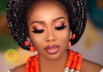 Flawless Facebeat Inspo for a Nigerian Bride.