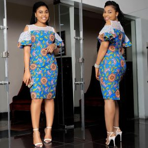 ankara cold shoulders styles