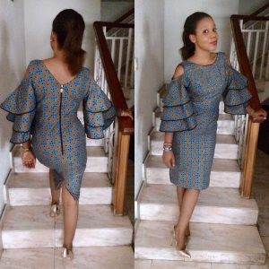 ankara cold shoulder styles