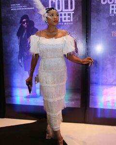 celebrities outfit to cold feet movie premiere