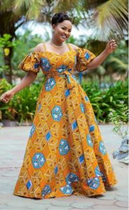 ankara long dress
