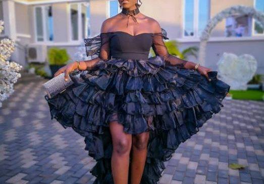 BBNaija's Debie Rise Attends Friend's Wedding in a Statement Outfit.