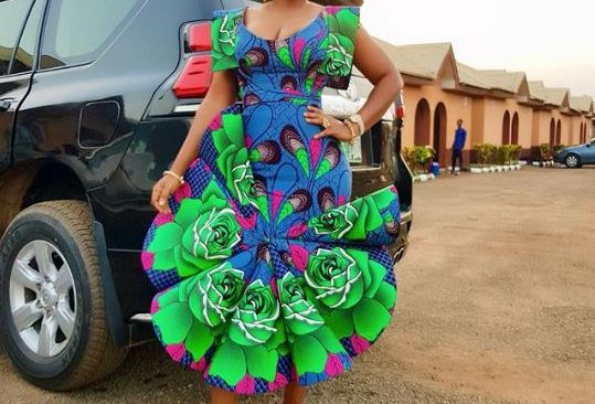 Check Out Mercy Aigbe's Fascinating Dress to a Wedding.