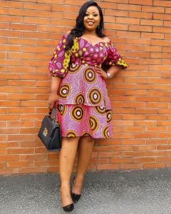 ankara two step dress