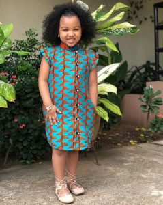 ankara gowns for children