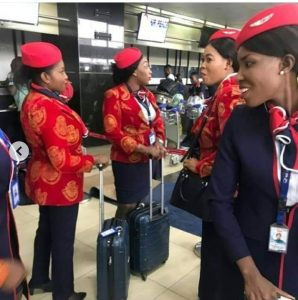 air peace crew on isiagu
